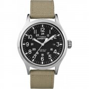 Timex Expedition Scout Black Dial Beige Nylon Strap Gents Watch T49962
