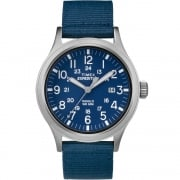 Timex Expedition Scout Blue Dial Blue & Tan Nylon Strap Gents Watch TW4B07000
