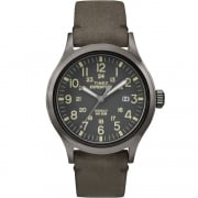 Timex Expedition Scout Grey Dial Brown Leather Strap Gents Watch TW4B01700