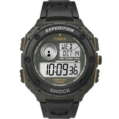 Timex Expedition Shock Digital Chronograph Black Resin Strap Gents Watch T49982