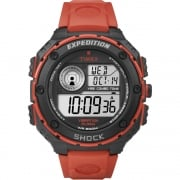 Timex Expedition Shock Digital Chronograph Red Strap Gents Watch T49984
