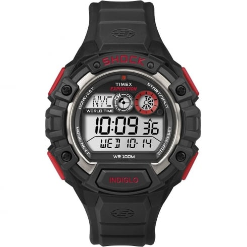 Timex Expedition World Time Digital Chronograph Black Resin Strap Gents Watch T49973