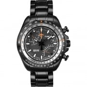 Timex IQ Aviator Chronograph Black Bracelet Gents Watch T2P103