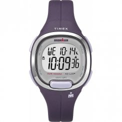 Timex Ironman Transit Digital 10 LAP Purple Resin Strap Mid Size Watch TW5M19700