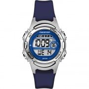 Timex Marathon Digital Alarm Chronograph Blue Resin Strap Ladies Watch TW5M11200