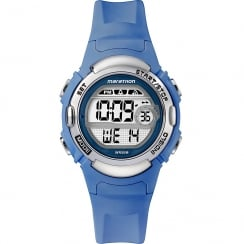 Timex Marathon Digital Alarm Chronograph Blue Resin Strap Ladies Watch TW5M14400