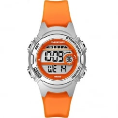 Timex Marathon Digital Alarm Chronograph Orange Resin Strap Ladies Watch TW5K96800