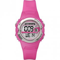 Timex Marathon Digital Alarm Chronograph Pink Resin Strap Ladies Watch T5K771