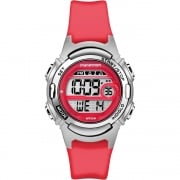 Timex Marathon Digital Alarm Chronograph Red Resin Strap Ladies Watch TW5M11300