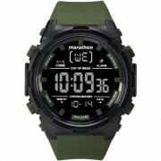 Timex Marathon Digital Chronograph Green Resin Strap Full Size Watch TW5M22200
