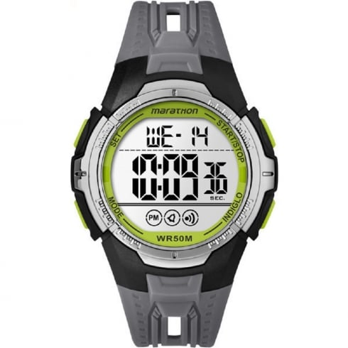 Timex Marathon Digital Chronograph Grey Resin Strap Gents Watch TW5M06700
