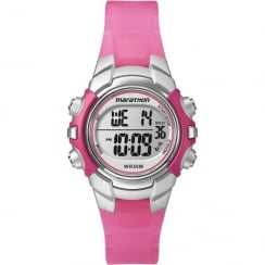 Timex Marathon Digital Chronograph Pink Resin Strap Kids Watch T5K808
