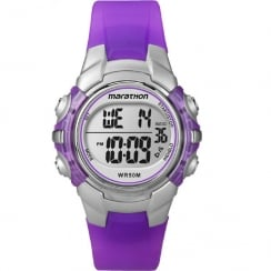 Timex Marathon Digital Chronograph Purple Resin Strap Kids Watch T5K816