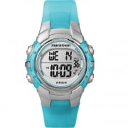 Timex Marathon Digital Chronograph Turquoise Resin Strap Kids Watch T5K817