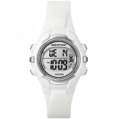 Timex Marathon Digital Chronograph White Resin Strap Kids Watch T5K806