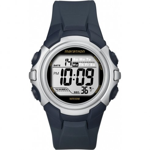 Timex Marathon lcd dial chronograph resin strap Mens watch T5K644