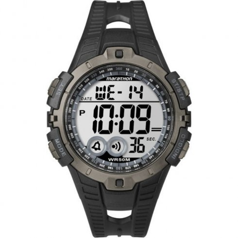 Timex Marathon lcd dial chronograph resin strap Mens watch T5K802