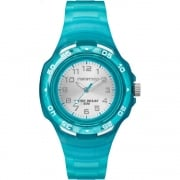 Timex Marathon Silver Dial Turquoise Resin Strap Kids Watch TW5M06400