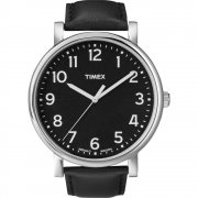 Timex Originals black dial leather strap Mens watch T2N339