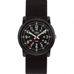 Timex Originals Camper Black Dial Black Nylon Strap Boys Watch T18581