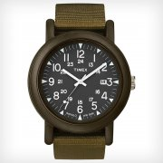 Timex Originals Camper Black Dial Green Nylon Strap Mens Watch T2N363
