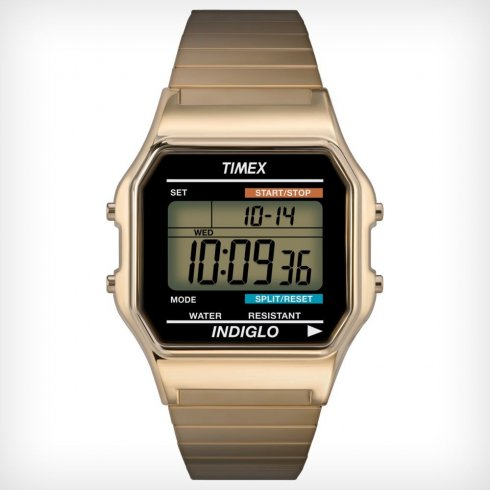 Timex Originals Digital Chronograph Gold Expander Mens Watch T78677