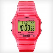 Timex Originals Digital Chronograph Pink Resin Strap Ladies Watch T2N805