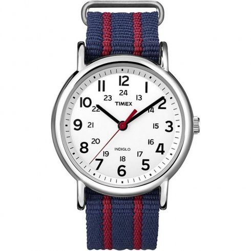 Timex Originals Weekender White Dial Nylon Strap Mens Watch T2N747