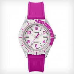 Timex Originals white dial Pink Resin Strap Ladies Watch T2P005