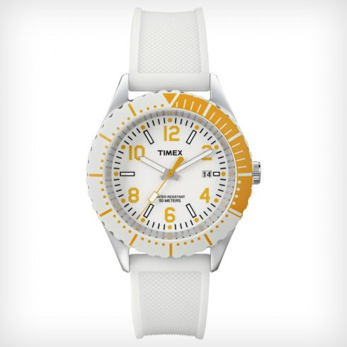 Timex Originals white dial rubber strap Ladies watch T2P007