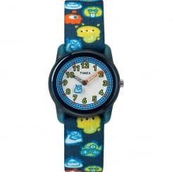 Timex Time Machine Monster Black Fabric Strap Kids Watch TW7C25800