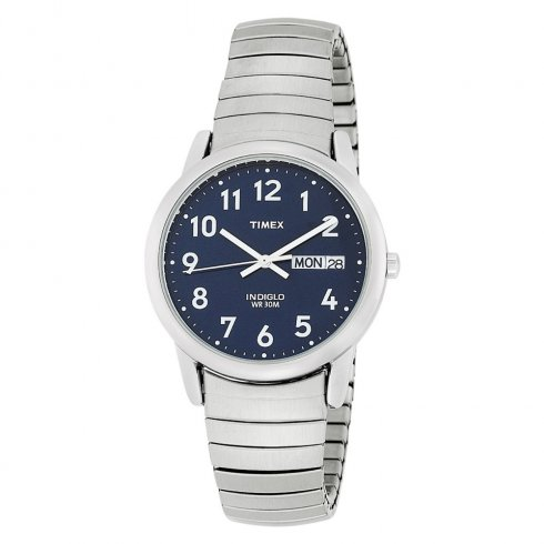 Timex Classic navy dial stainless steel expander Mens watch T20031