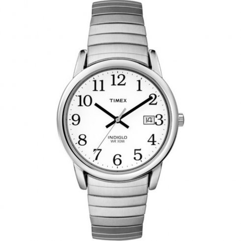 Timex Classic white dial stainless steel expander Mens watch T2H451