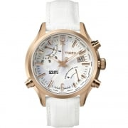 Timex IQ World Time White Dial White Strap Gents Watch TW2P87800