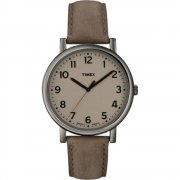 Timex Originals Brown Dial Tan Leather Strap Mens Watch T2N957
