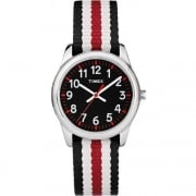Timex Weekender Black Dial Multi Colour Nylon Strap Kids Watch TW7C10200