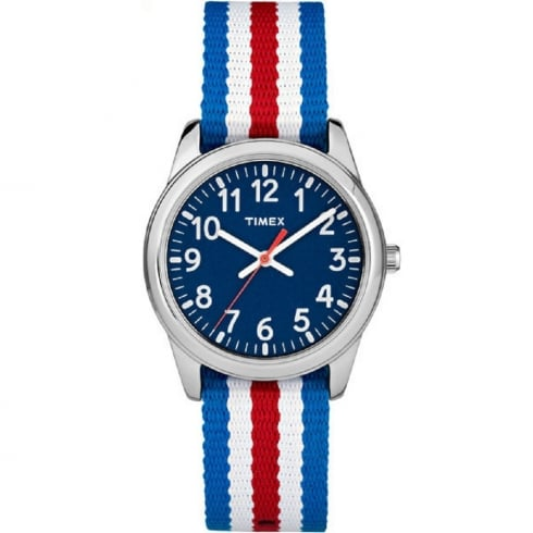 Timex Weekender Blue Dial Multi Colour Nylon Strap Kids Watch TW7C09900