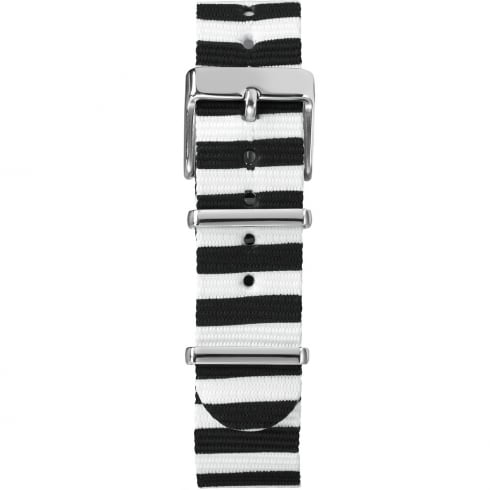 Timex Weekender Fairfield 18mm Black & White Watch Strap TW7C07600