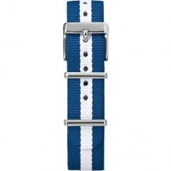 Timex Weekender Fairfield 18mm Blue & White Watch Strap TW7C07300