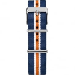 Timex Weekender Fairfield 20mm Blue, Orange & White Watch Strap TW7C07200