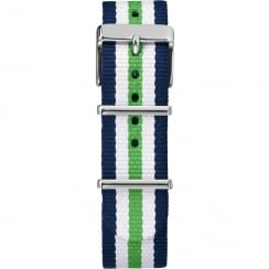 Timex Weekender Fairfield 20mm White, Blue & Green Watch Strap TW7C07000