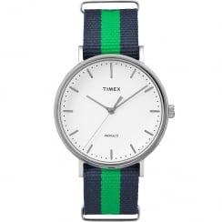 Timex Weekender Fairfield Blue & Green Strap Gents Watch TW2P90800
