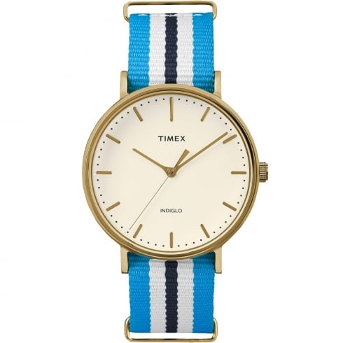 Timex Weekender Fairfield Blue & White Strap Gents Watch TW2P91000