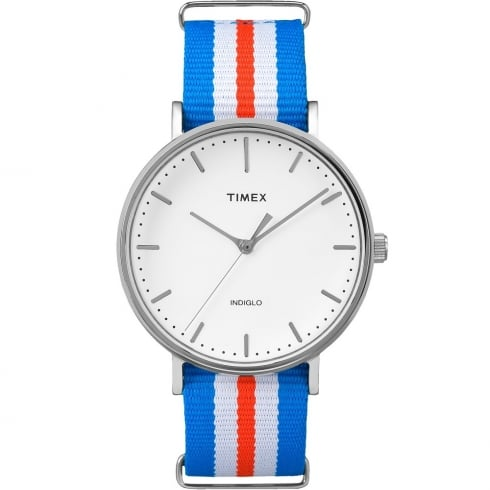 Timex Weekender Fairfield Red, White & Blue Strap Gents Watch TW2P91100