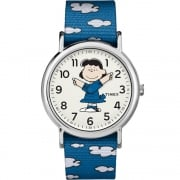 Timex Weekender Peanuts Lucy Blue Strap Watch TW2R41300