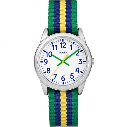 Timex Weekender White Dial Multi Colour Nylon Strap Kids Watch TW7C10100
