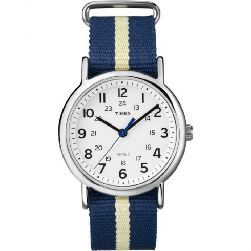 Timex Weekender white dial nylon strap Mens watch T2P142