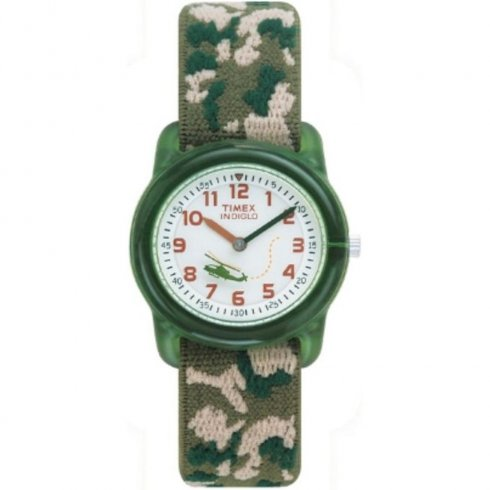 Timex White Dial Camouflage Fabric Strap Kids Watch T78141