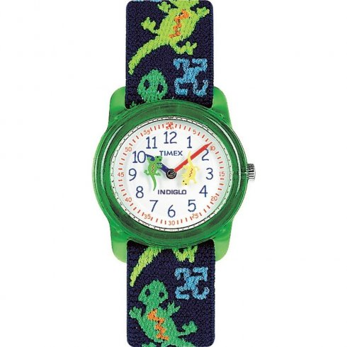 Timex White Dial Gecko on Blue Strap Kids Watch T72881