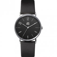 Zoom City Walk black dial leather strap Mens watch ZM.3793M.2502